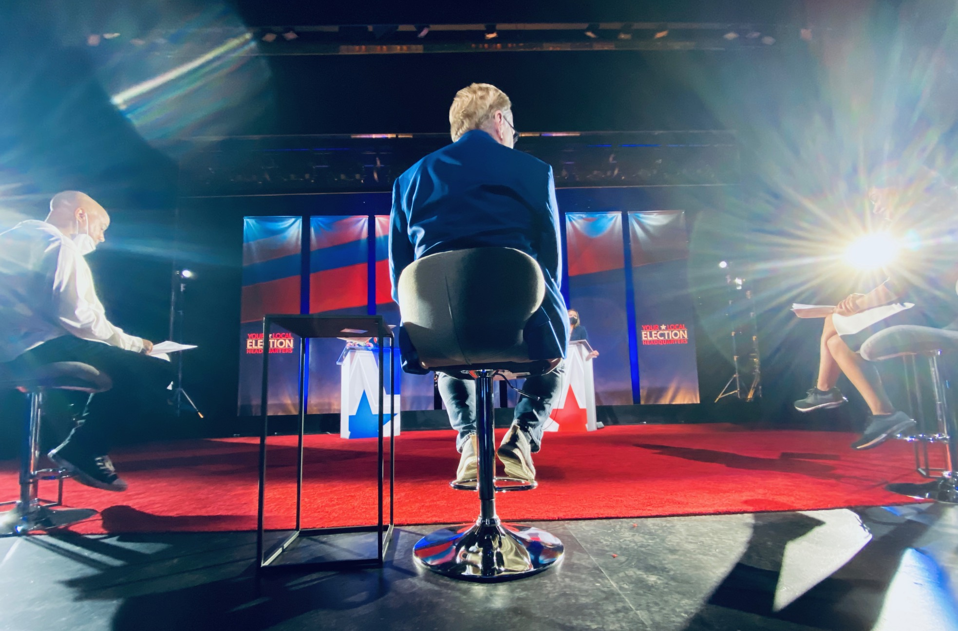 Rehearsals at the Bullock Texas State History Museum for the U.S. Senate Debate - Texas (Nexstar Photo)
