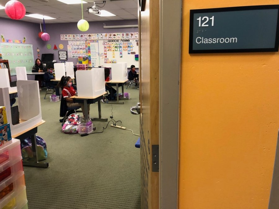 A classroom at Harmony Public Schools (KXAN Photo)