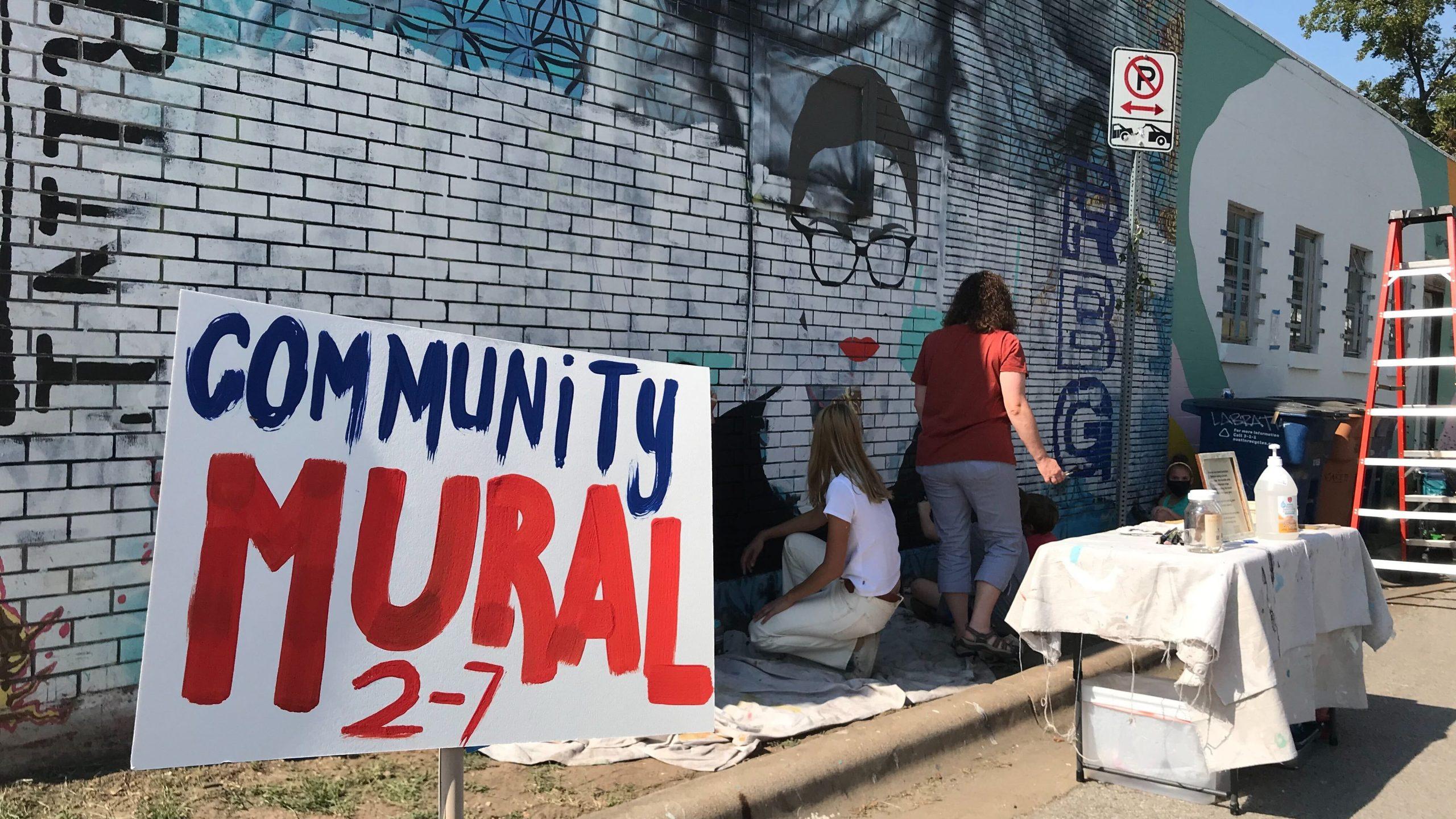 RBG mural in east Austin