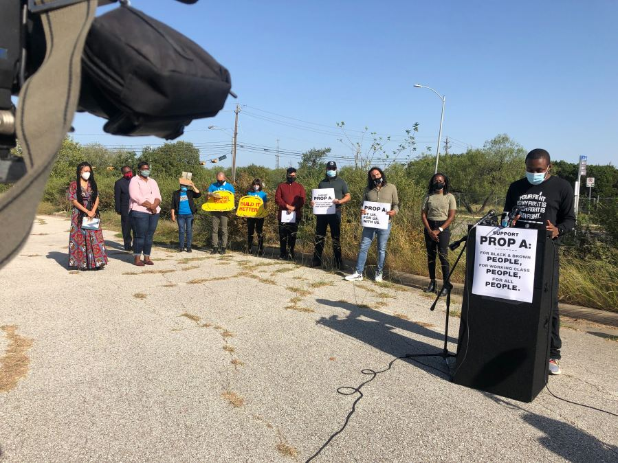 Austinites rally to show support for Proposition A, Project Connect's tax rate increase on the ballot (KXAN/Frank Martinez)
