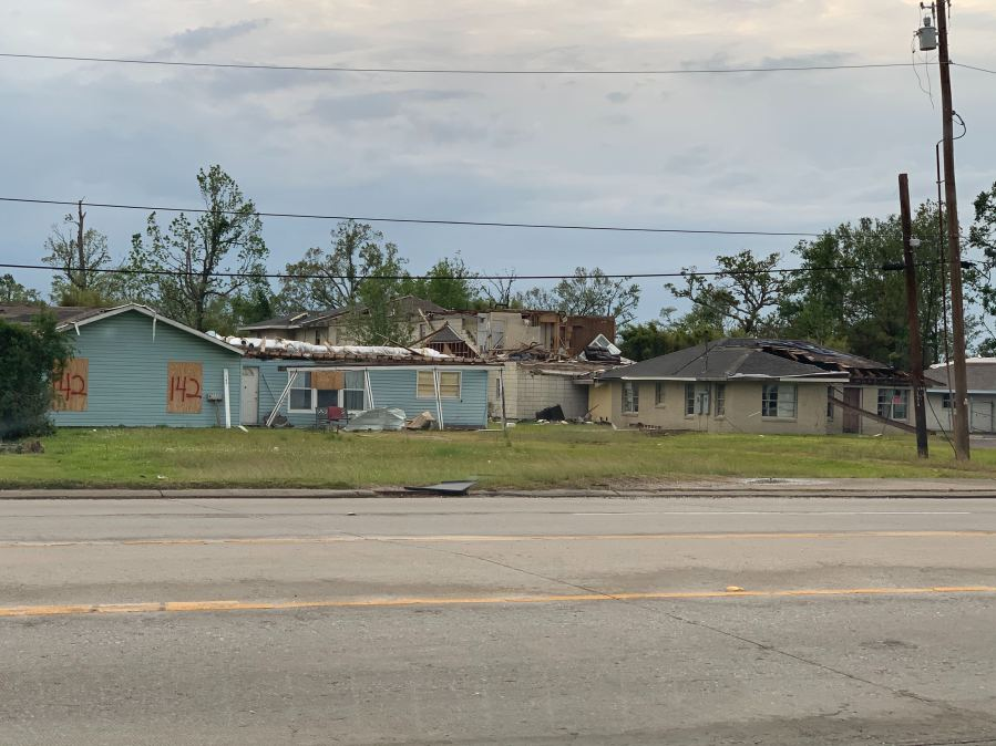Sulphur, Louisiana is still recovering from Hurricane Laura ahead of another storm—Delta (KXAN/Kristen Currie)
