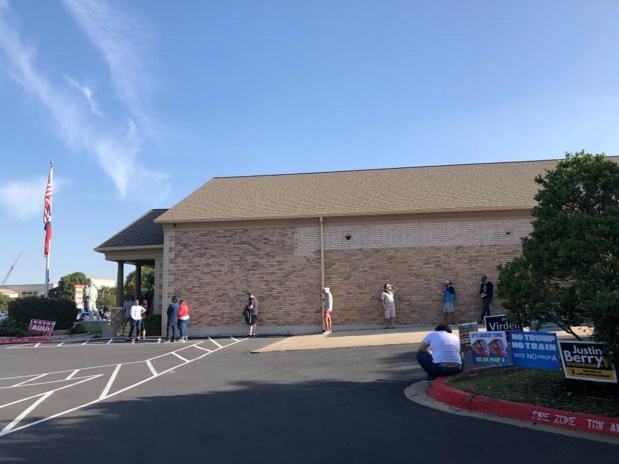 Ben Hur Shrine Center voting line 101420