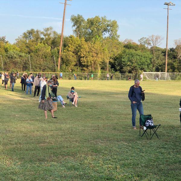 Voting lines at South Austin Rec Center