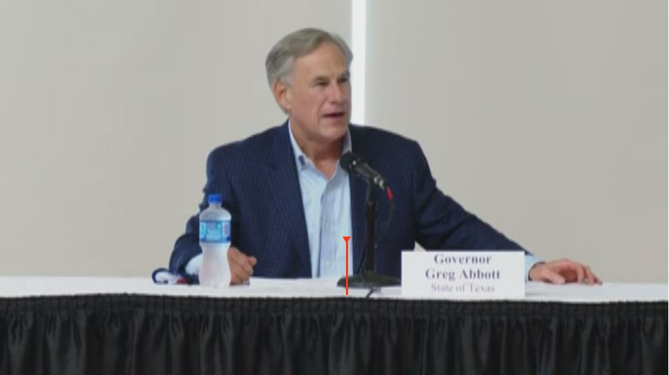 Gov. Greg Abbott speaks at a new Amazon center site in Waco, Texas on Oct. 23, 2020 (KXAN/NBC Photo)