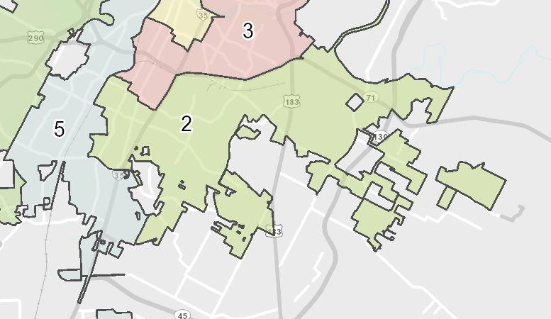 Austin City Council District 2 (City of Austin Photo)
