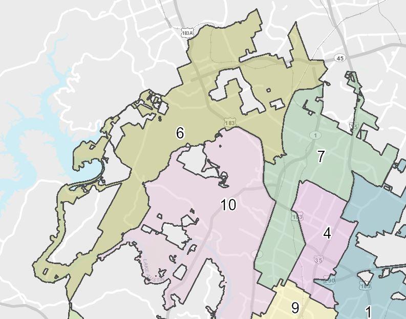 Austin City Council District 6 (City of Austin Photo)