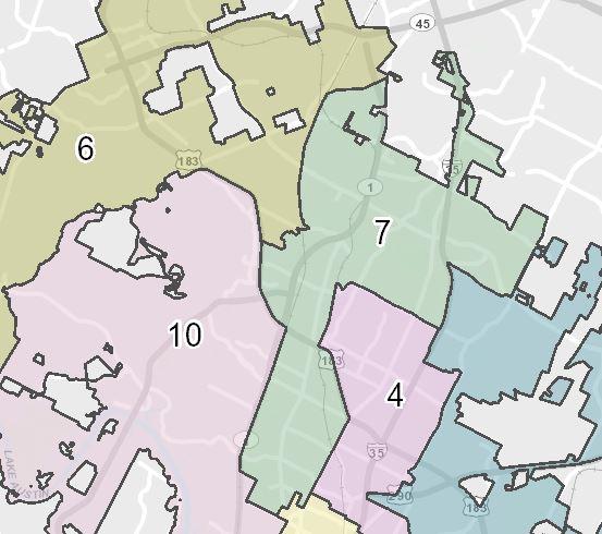 Austin City Council District 7 (City of Austin Photo)