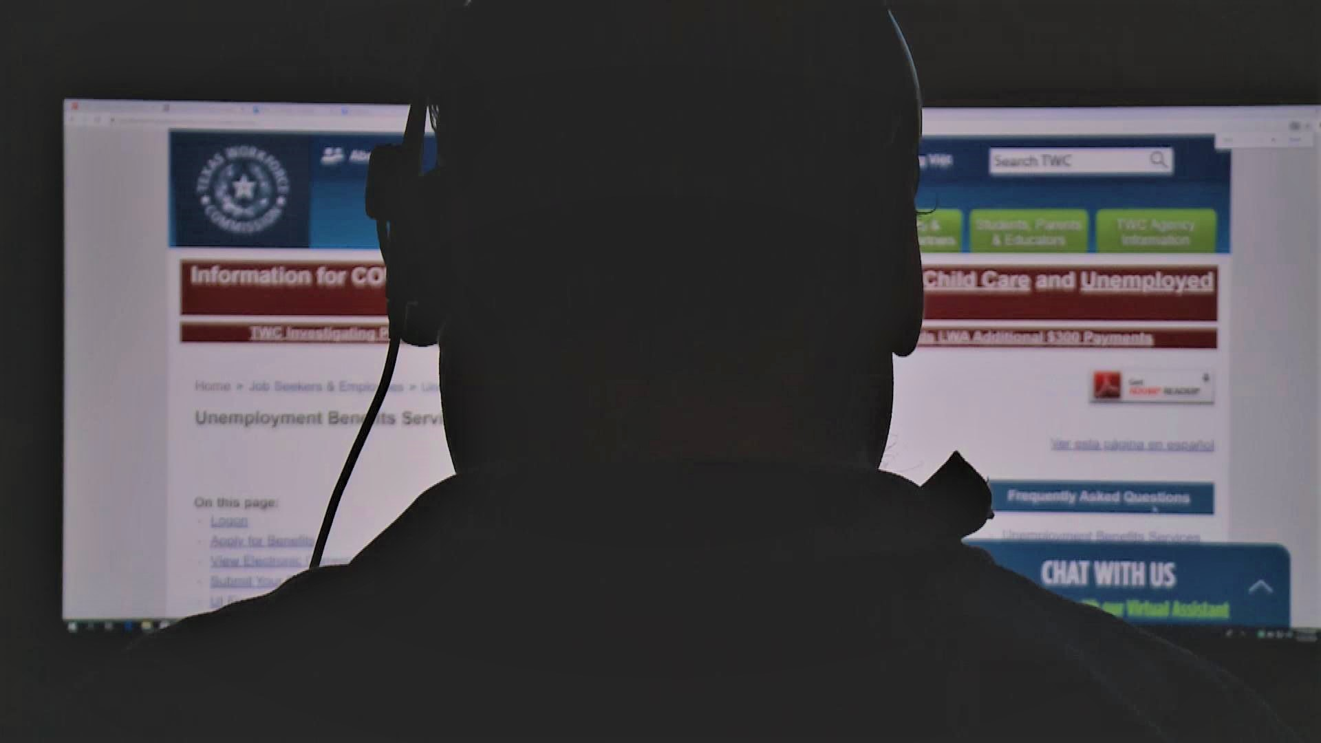 The TWC contracted more than 1,500 new call takers in April when the agency executed contracts with a maximum approved expenditure limit of $15 million. One of those contract workers told KXAN they're still not able to access claimant accounts to help Texans when they call with problems with their unemployment benefits. (KXAN Photo/Ben Friberg)