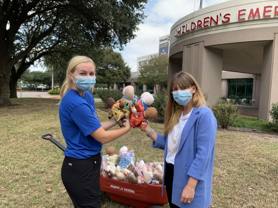 A First Baptist Church sewing group donates comfort dolls to a North Austin hospital (10/15/2020)