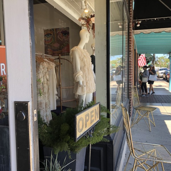 Shops in downtown Boerne, Texas, are open for business to customers wearing masks on Sept. 30, 2020. Boerne is one of the Texas communities participating in the Regional XLR8 program from the University of Texas at Austin's IC² Institute which is aiming to help smaller and more rural Texas communities face economic recovery from the COVID-19 pandemic (KXAN Photo/Alyssa Goard)