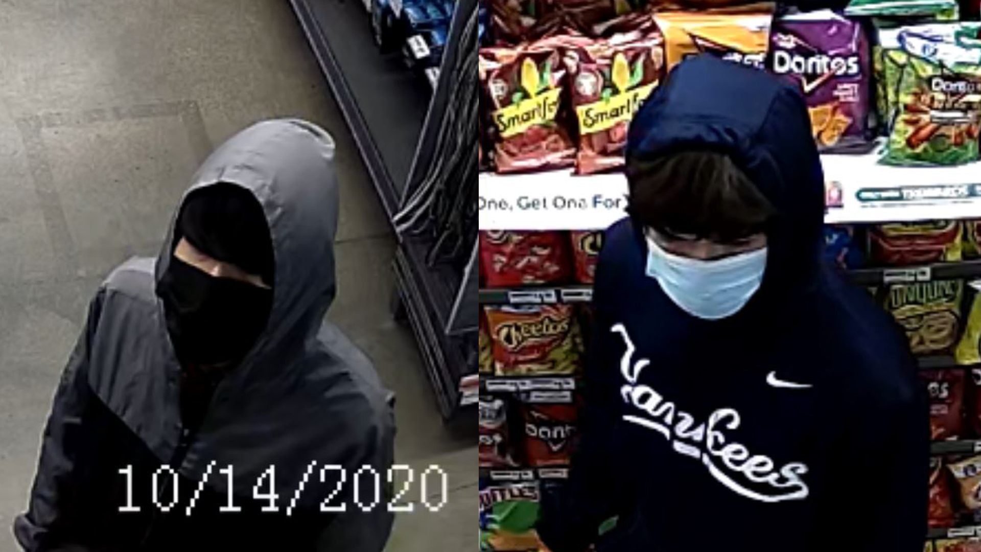 Suspects accused in 7-Eleven robbery on Wednesday, Oct. 14, 2020 (APD Photo)