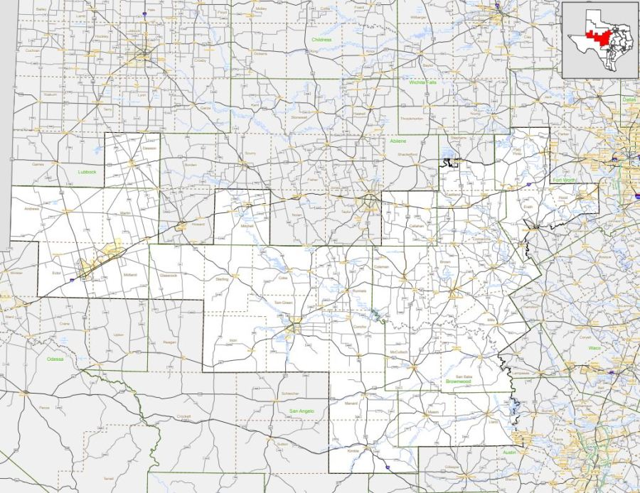 Texas Congressional District 11 (Texas Department of Transportation Photo)