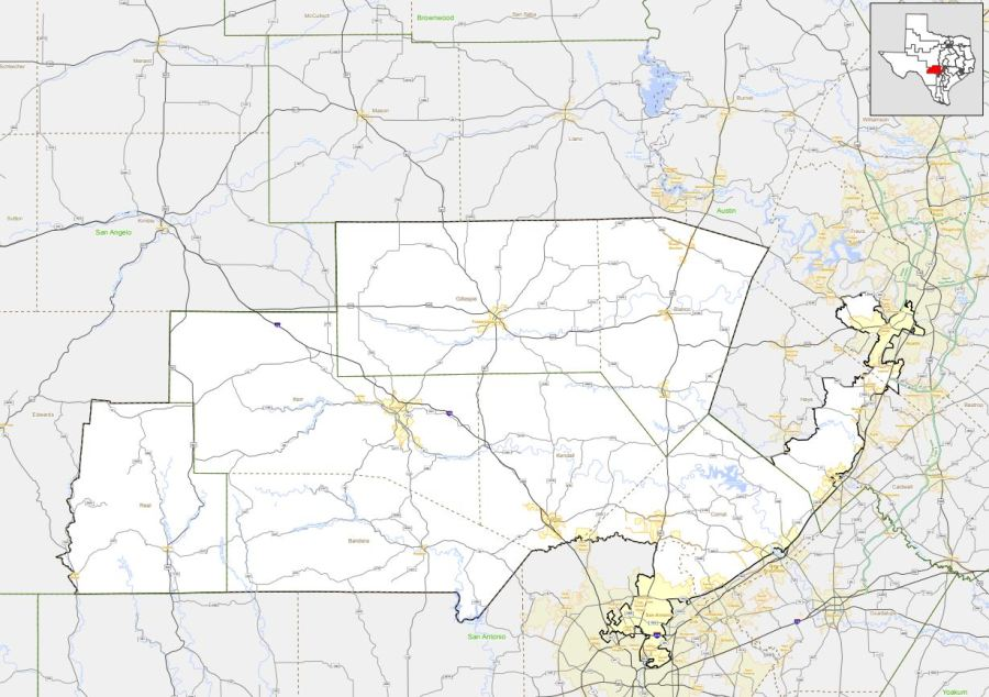 Texas Congressional District 21 (Texas Department of Transportation Photo)