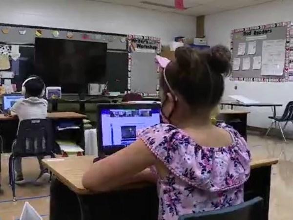 A student in an Austin ISD classroom (KXAN Photo)