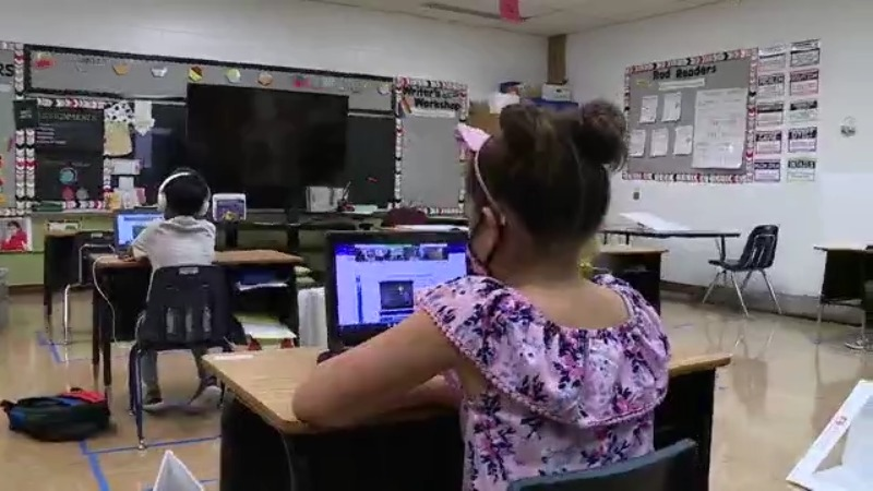 A student in an Austin ISD classroom (KXAN Photo)