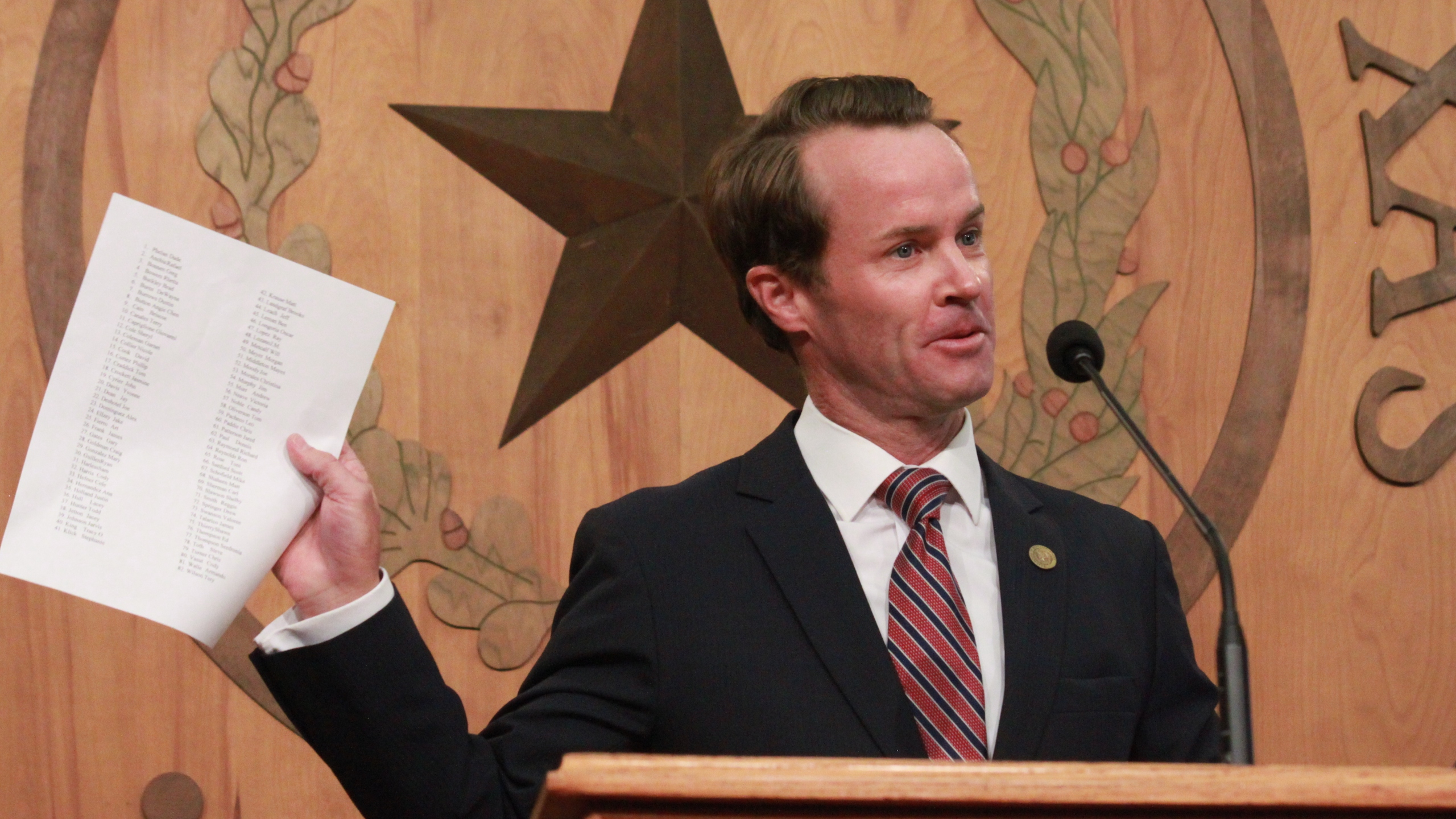 Rep Dade Phelan Texas House Speaker Announcement