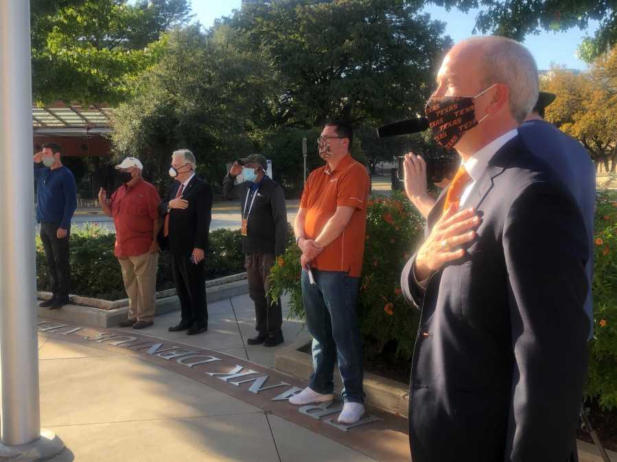 University of Texas at Austin Hosts Veterans Day Ceremony (KXAN / Frank Martinez) University of Texas at Austin Hosts Veterans Day Ceremony (KXAN / Frank Martinez)