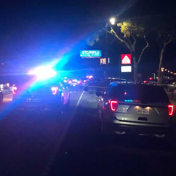 1 person is dead and another is hurt after a shooting near a northwest Austin business on Ranch Road 2222. (KXAN/Tim Holcomb)