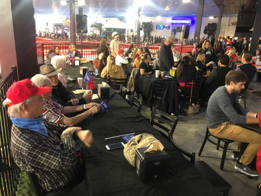 People gather for a Travis County Republican Party event on Nov. 3, 2020 (KXAN Photo/Frank Martinez)