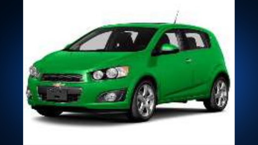 Example of green 2014 Chevy Sonic