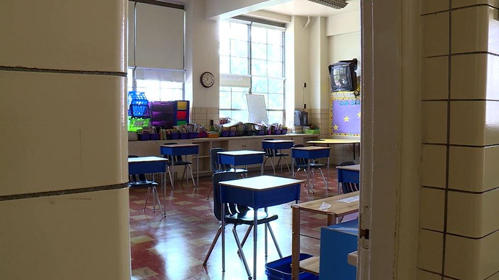 A classroom in Norfolk Virginia (WAVY Photo)