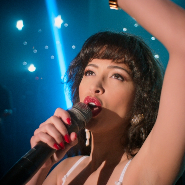 "Christian Serratos portrays Selena Quintanilla from ""Selena The Series."" (Netflix via AP)"