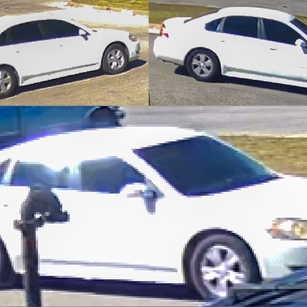 Car of suspect, driver accused in San Marcos apartment complex invasion Tuesday, Nov. 17 (SMPD Photo)