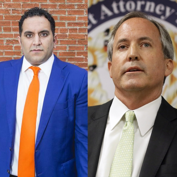 Left to Right: Nate Paul (ABJ Photo), Texas AG Ken Paxton