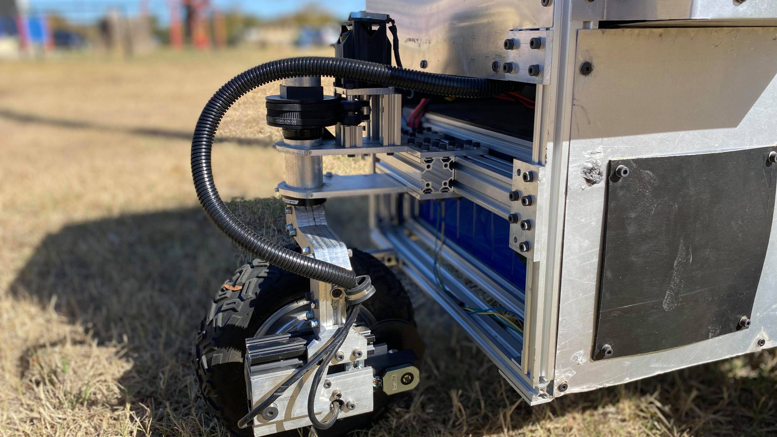 Litter cleanup robot (KXAN/Kaitlyn Karmout)