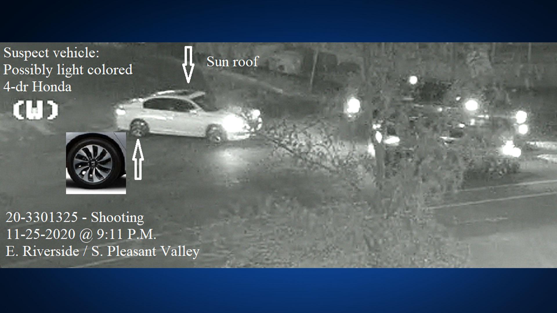 Car of suspect accused in Nov. 25 road rage incident (APD Photo)