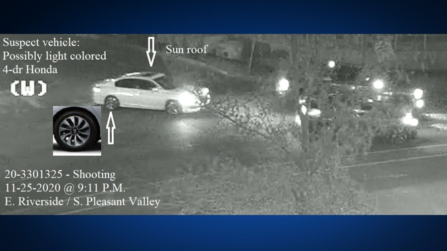Car of suspect accused in Nov. 25 road rage incident (APD Photo)