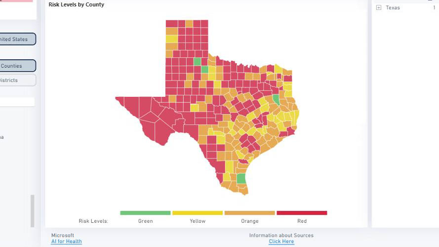 Over 100 Texas Counties Entering Thanksgiving Week At Red Level Covid 19 Tipping Point Kxan Austin