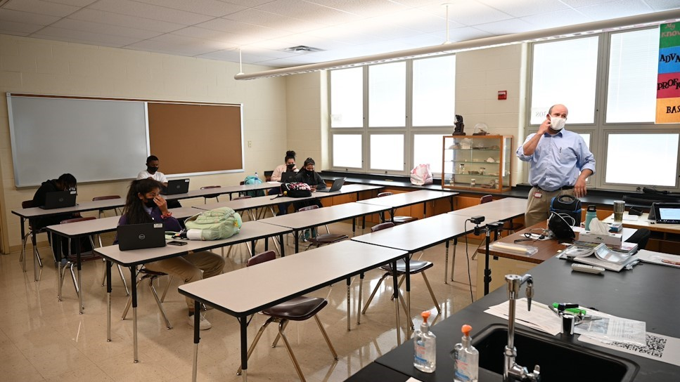 Students learn in a classroom at Susquehanna Township High School (WHTM Photo)