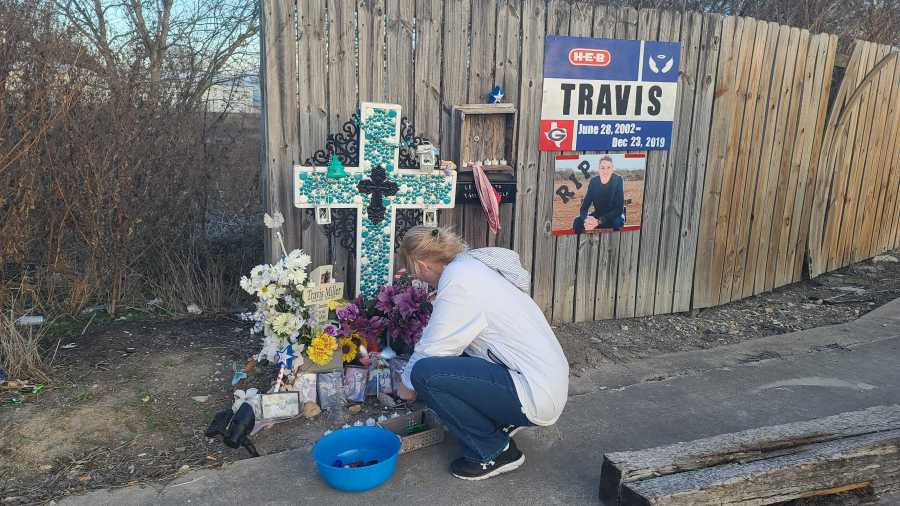 Granger High student Travis Miller honored one year after his death (KXAN Photo/Andrew Choat)