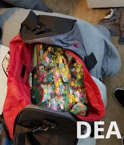 Alprazolam laced sweet tarts seized by the DEA Austin DO Tactical Diversion Squad during Operation Spyder Web. (DEA Photo)