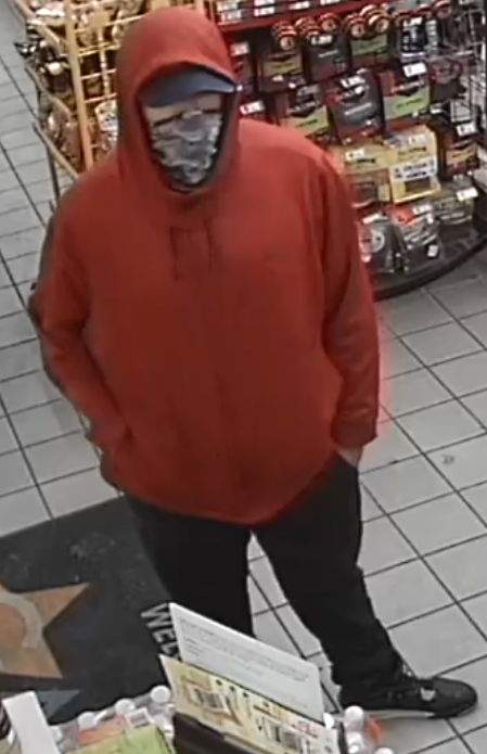 Spirit Pit Stop robbery suspect (SMPD Photo)