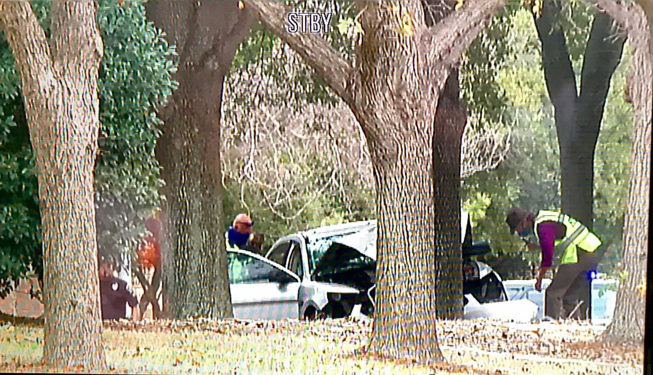 Woman dead after crash near intersection of Scofield Ridge Parkway and Range Horse Road Dec. 29 (KXAN/Ed Zavala)