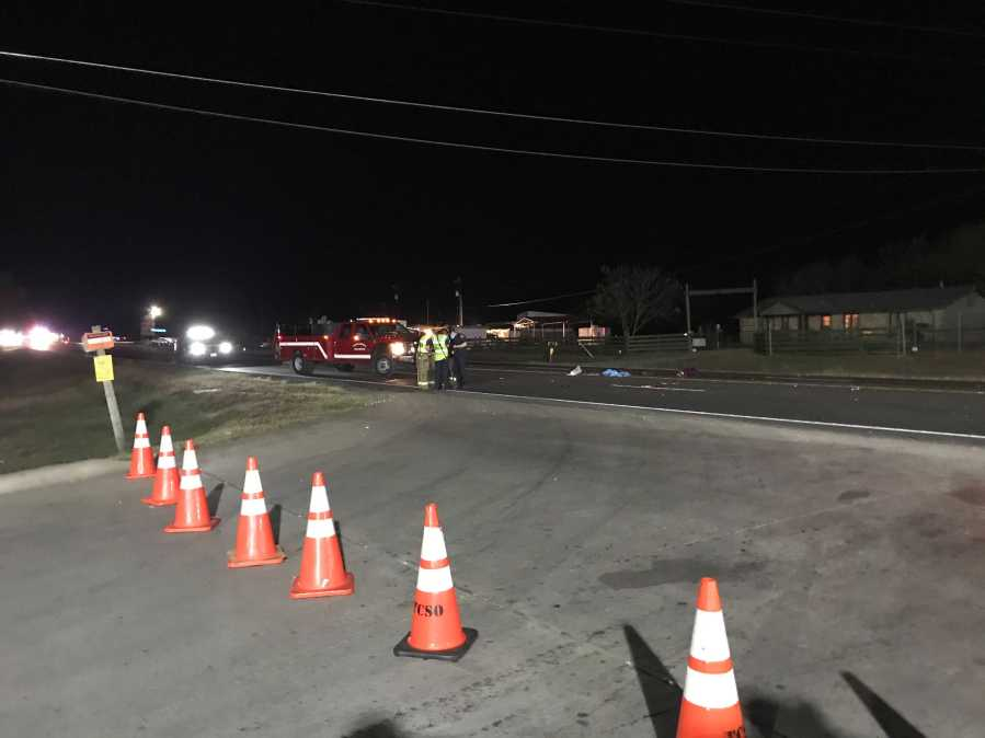 One person was taken to the hospital after an auto vs. pedestrian collision on U.S. Highway 183 on Dec. 4 (KXAN Photo /Tim Holcomb)