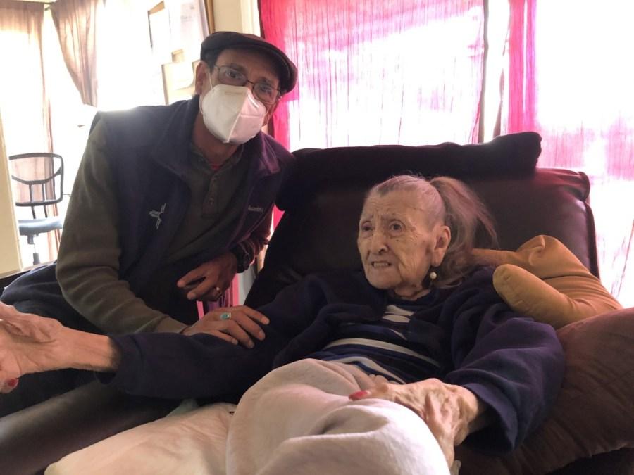 Nolan Lujan and his 95-year-old mother (KXAN/Jennifer Sanders)