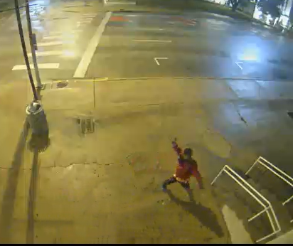 Suspect wanted for throwing objects and breaking windows at two Travis County buildings early Sunday morning. (TCSO Photo)