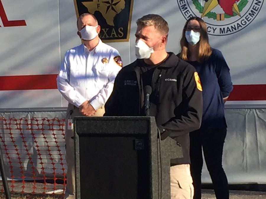 The Texas Department of Emergency Management announced the opening of a regional COVID-19 therapeutic infusion center in the Austin-Travis County area (KXAN Photo/Juan Salinas)