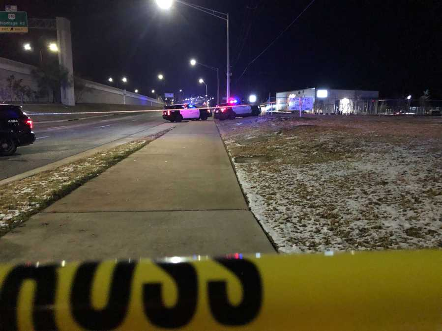 A man was found dead with a gunshot wound near the intersection of U.S. Highway 290 and Springdale Road early Monday morning. (KXAN photo/Julie Karam)