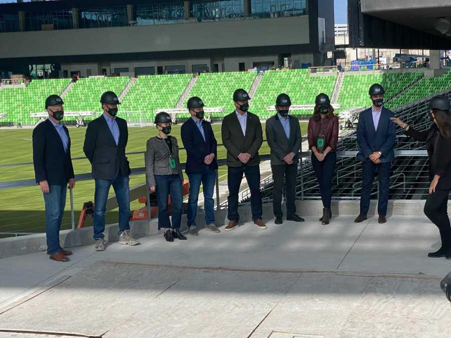 Q2 Stadium - Austin FC naming rights ceremony