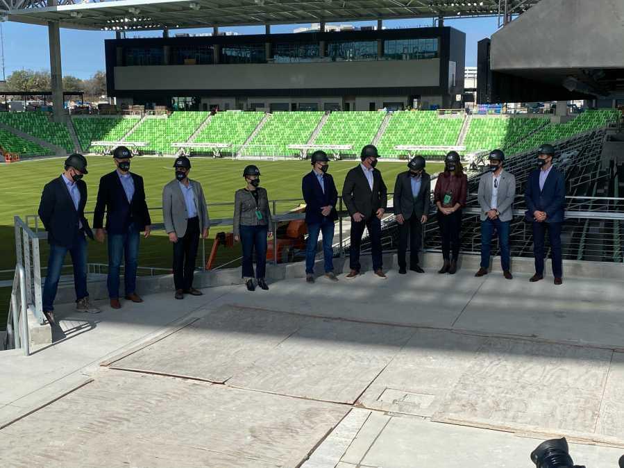 Q2 Stadium - Austin FC stadium ceremony