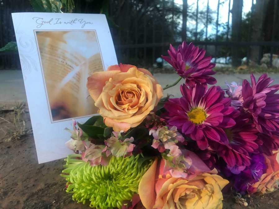 Memorial for Alex Gonzales on Wickersham Lane (KXAN/Frank Martinez)