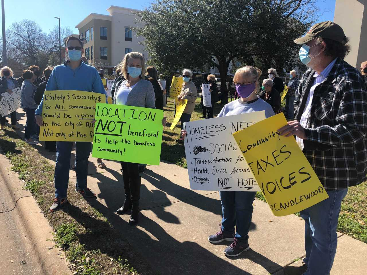 'Save our community': Neighbors protest against plan to house homeless people at northwest Austin hotel