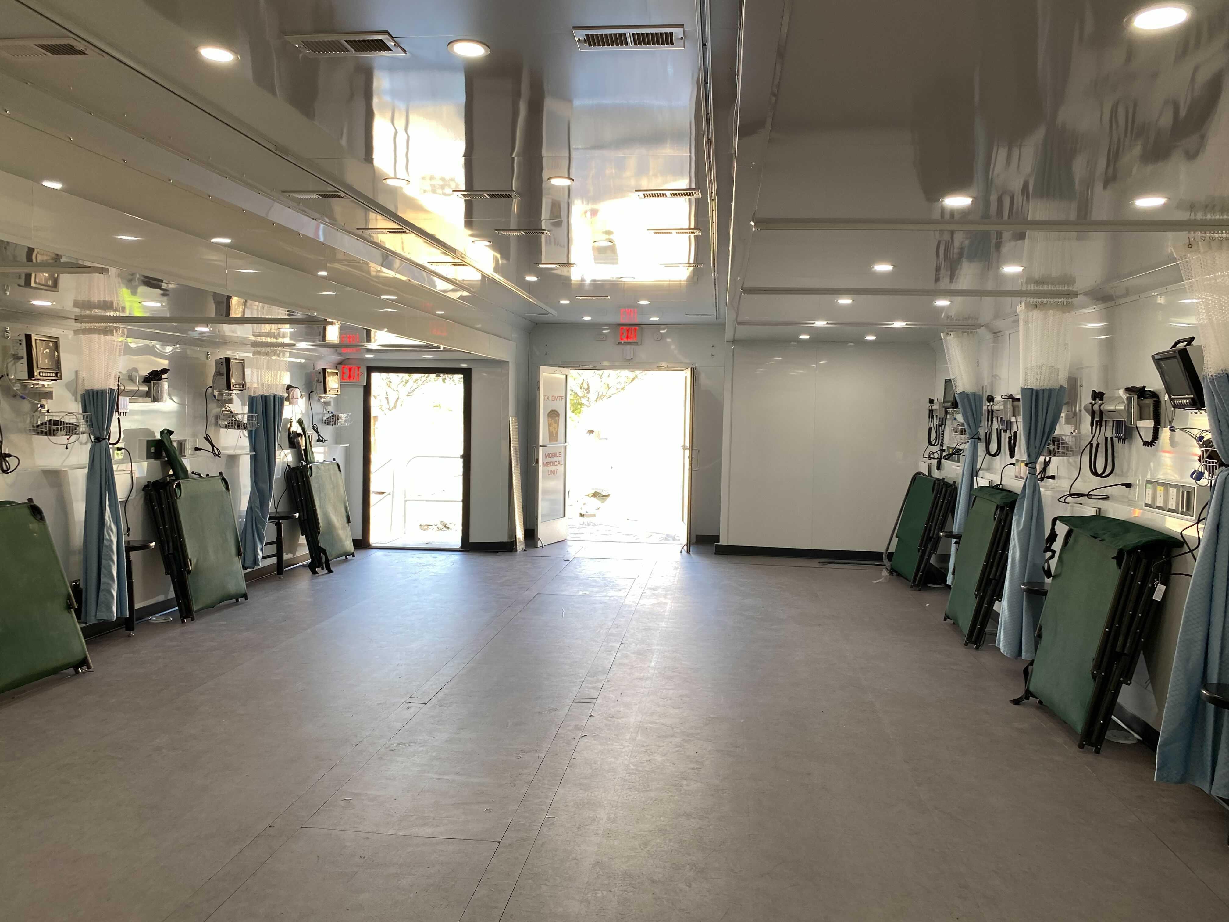 Inside the COVID-19 antibody therapy center on Jan. 5. It's set to open in east Austin (KXAN Photo/Tahera Rahman)