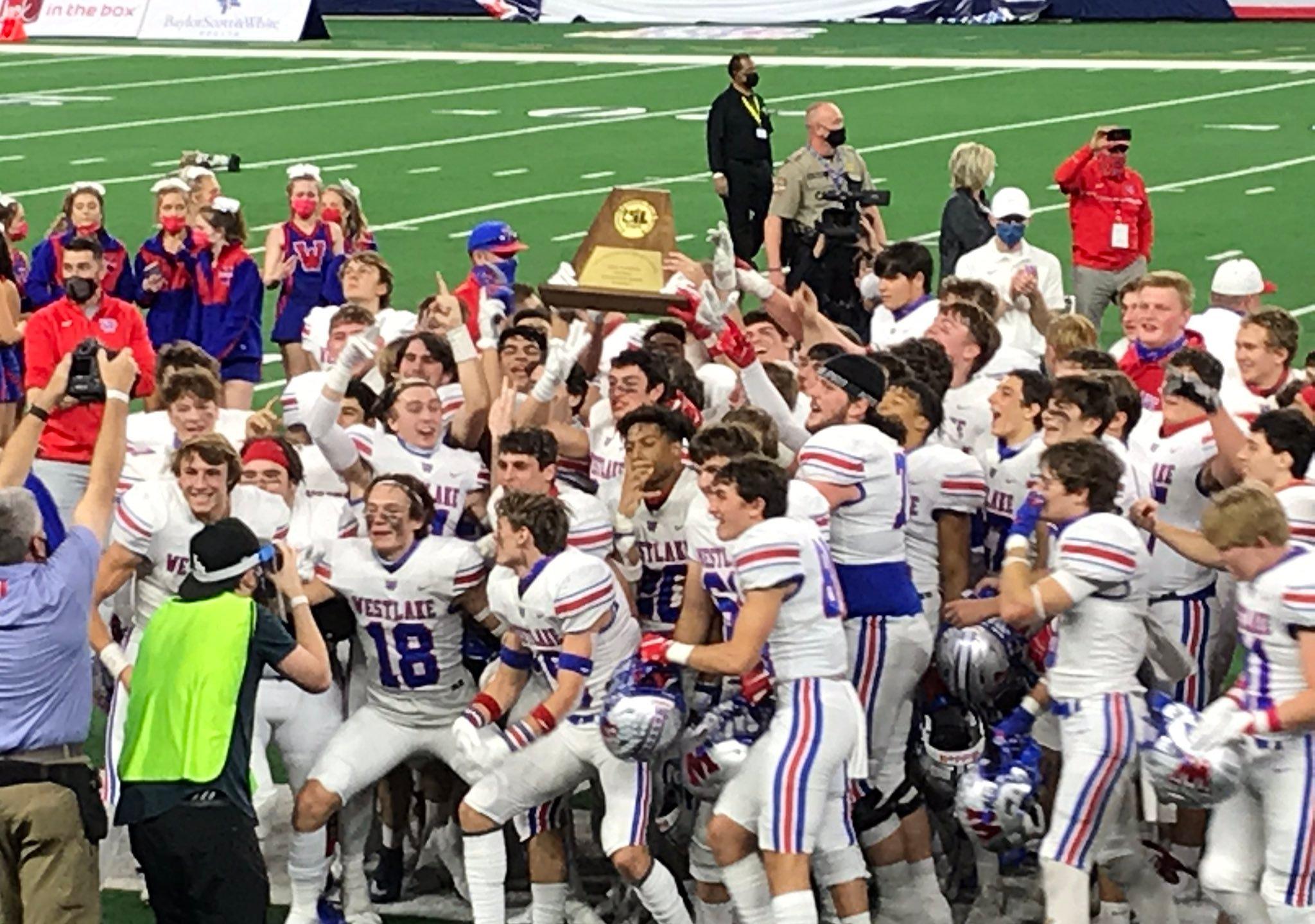 Westlake football wins 2020 state championship