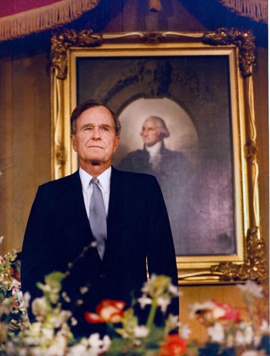 George HW Bush David Valdez Inauguration Day