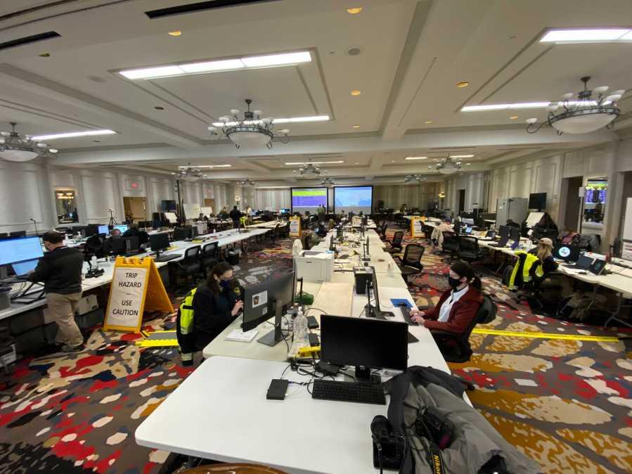 Emergency response efforts underway in Texas on Feb. 17, 2021 (KXAN Photo/Todd Bynum)